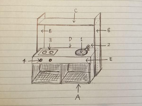 DIY おままごとキッチン 設計図