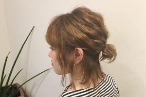 短めヘアさんにオススメ簡単オシャレなハーフアップシニヨン☆ヘアゴム1つでできる!