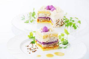 まるでケーキ! 海外でも話題の乳製品・卵不使用『ベジデコサラダ®』がおしゃれ!
